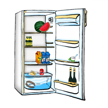 Výsledek obrázku pro lednice kreslená png