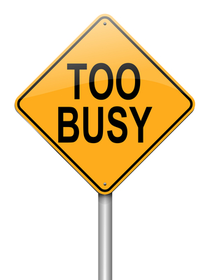 Illustration depicting a roadsign with a too busy concept. White background.