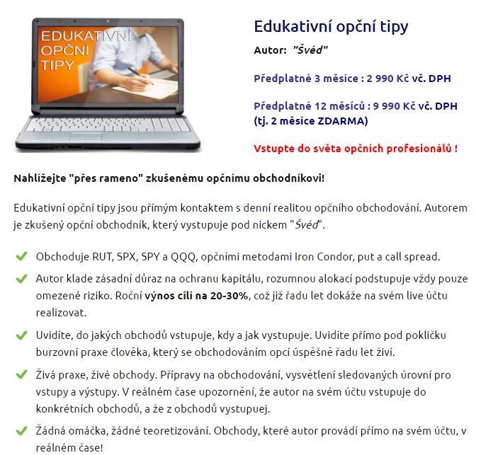 finakademie opce edukativní opční tipy Švéd